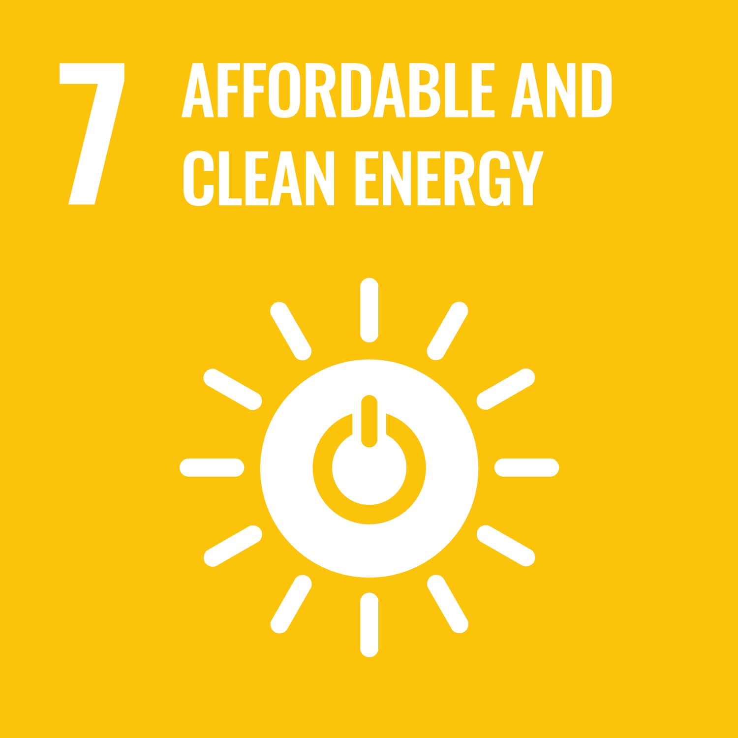 UN Sustainable Development Goal 7: Affordable and Clean Energy